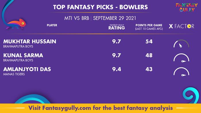 Top Fantasy Predictions for MTI vs BRB: गेंदबाज