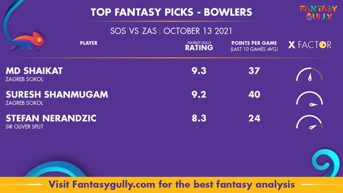 Top Fantasy Predictions for SOS vs ZAS: गेंदबाज