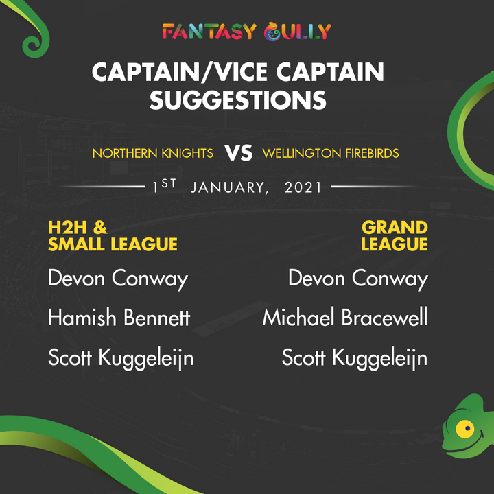 Our Recommended Captain And Vice Captain picks